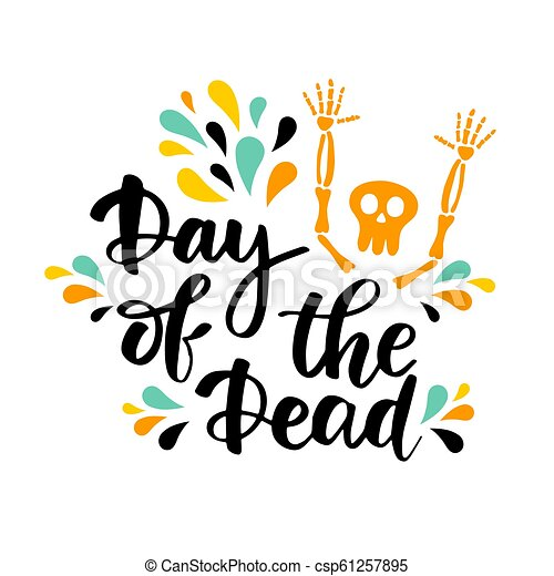 El día del vector muerto marcando ilustraciones - csp61257895