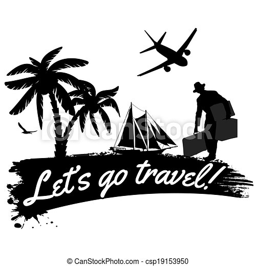 Lets Go Travel Poster Lets Go Travel In Vitage Style Poster