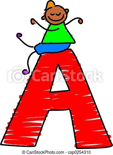 letter a boy little toddler sitting on a letter a rh canstockphoto com letter a clipart black and white letter a clip art sparkle