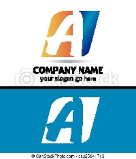 Letter a logo design sample vector clip art search illustration letter a logo design sample csp25041713 spiritdancerdesigns Gallery