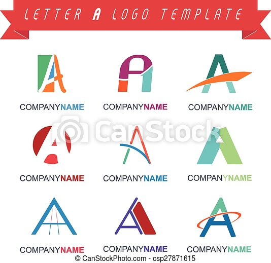 Letter A Logo Template - csp27871615