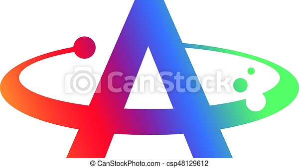 an amazing letter a symbol inside swoosh circle vector clip art rh canstockphoto com letter a clipart black and white letter a clip art images