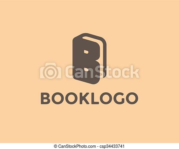 Letter B Book Logo - csp34433741
