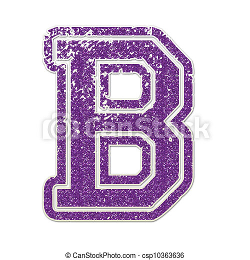 Letter b in college glitter Letter b drawings Search Clipart