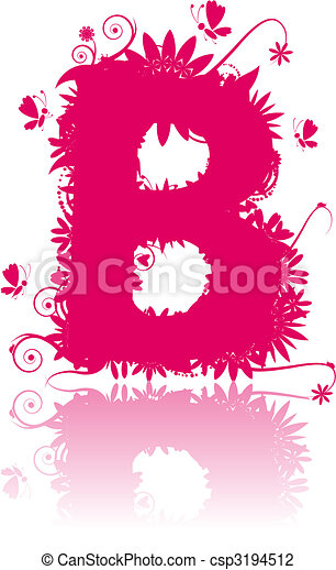 Letter B. See also letters in my gallery - csp3194512