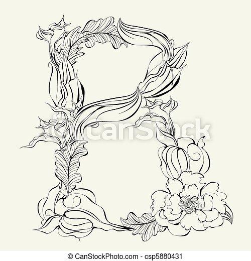 Decorative Font Letter B
