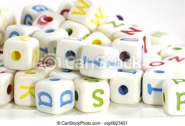 Letter Blocks - csp0623451