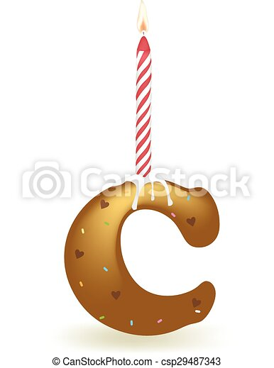 Letter C Birthday Candle