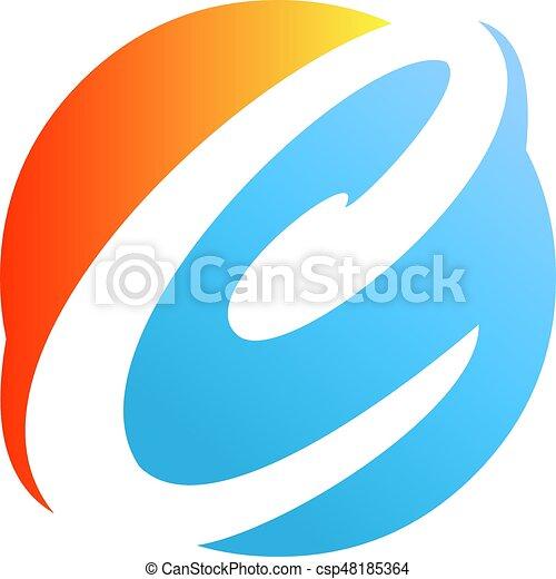 An Amazing Letter C Symbol Inside Circle Design