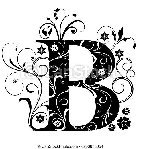 Letter Capital B