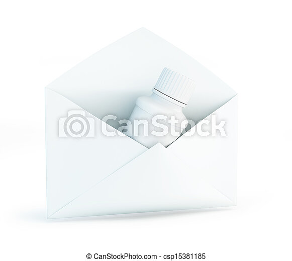 letter container for pills - csp15381185