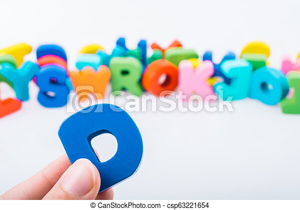 Letter cubes of made of wood - csp63221654