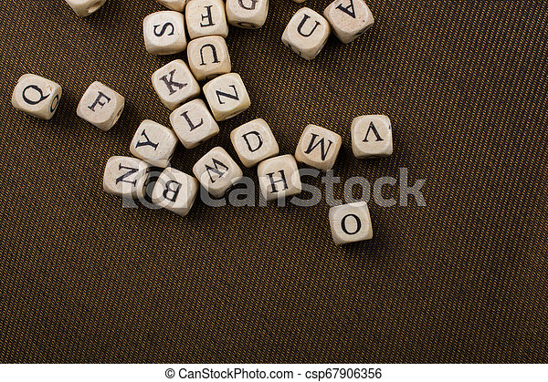 Letter cubes of made of wood - csp67906356
