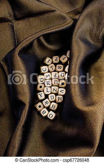 Letter cubes of made of wood - csp67726048