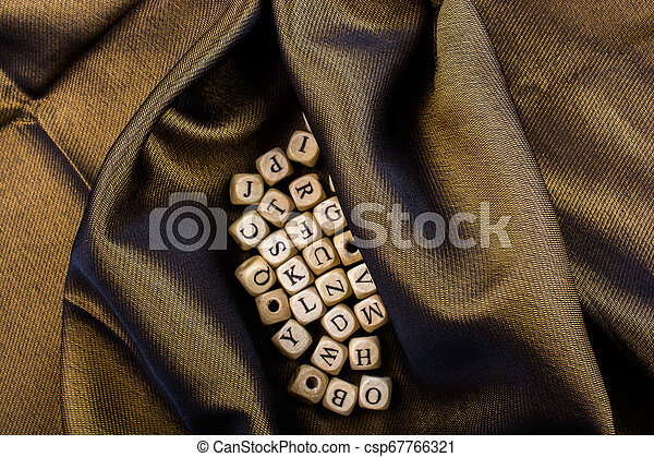 Letter cubes of made of wood - csp67766321