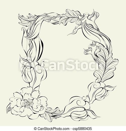 Decorative Font Letter D