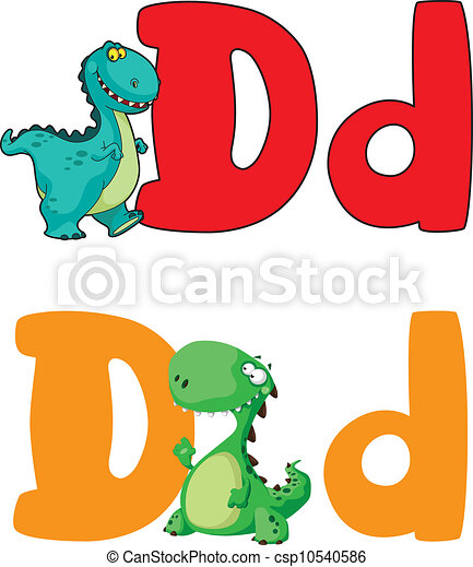 illustration of a letter d dinosaur rh canstockphoto com small letter d clipart small letter d clipart