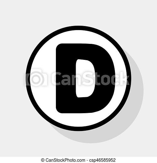 letter d sign design template element vector flat black icon in