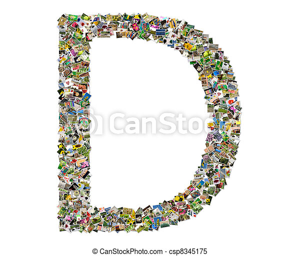 Letter d photos collage isolated on a white background letter d csp8345175 thecheapjerseys Gallery