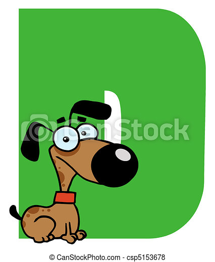 Letter D With A Dog - csp5153678