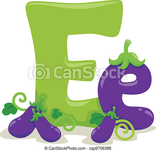 Illustration Featuring The Letter E Clip Art Vector