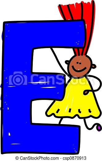 letter e girl happy little ethnic girl holding a giant letter e rh canstockphoto com letter e clipart letter i clipart