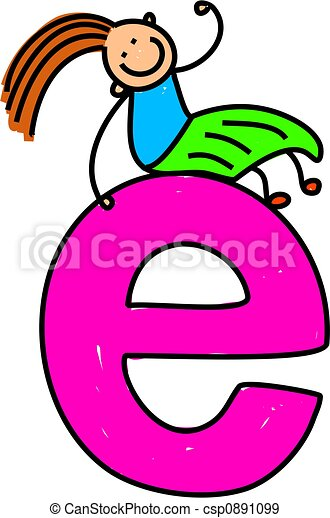 letter e girl happy little girl sitting on giant letter e rh canstockphoto com clipart email ecliparts