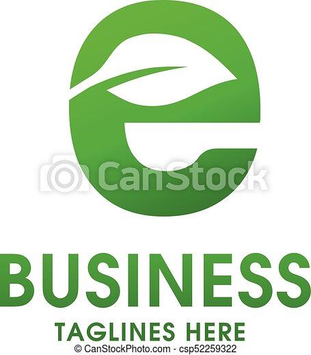 Letter e green leave logo letter e green logo with a leaf vector letter e green leave logo csp52259322 altavistaventures Images