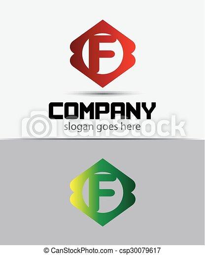 letter f logo icon design template