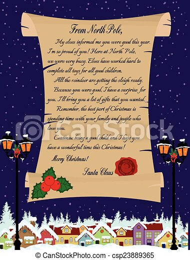 Letter from Santa Claus - csp23889365