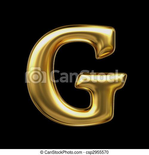 LETTER G In Golden Metal   Csp2955570