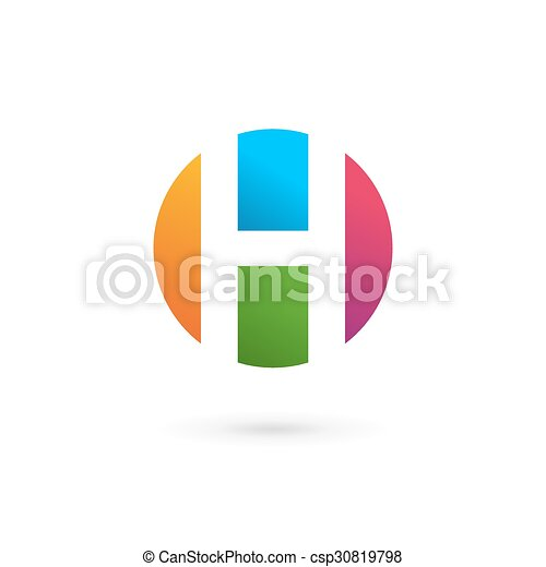 306dd32284ce Letter h logo icon design template elements.