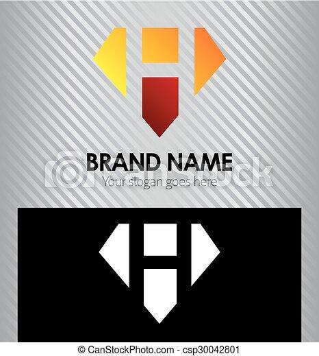d4527386908b Letter H logo icon design template - csp30042801