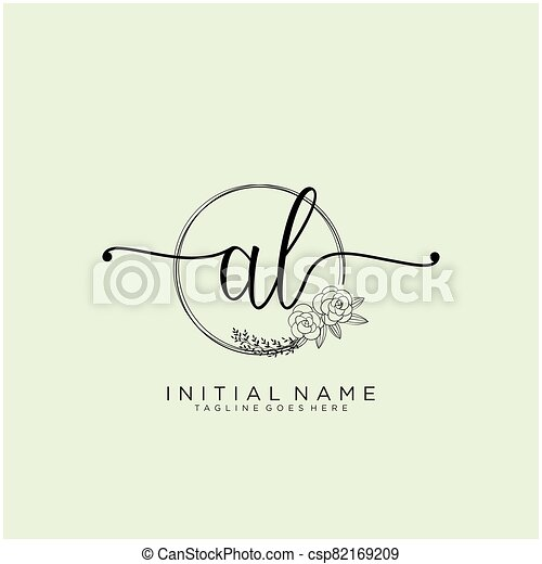 Letter Initial Al Beauty Monogram And Elegant Logo Design Initial Handwriting Logo Design Logo For Fashion Photography