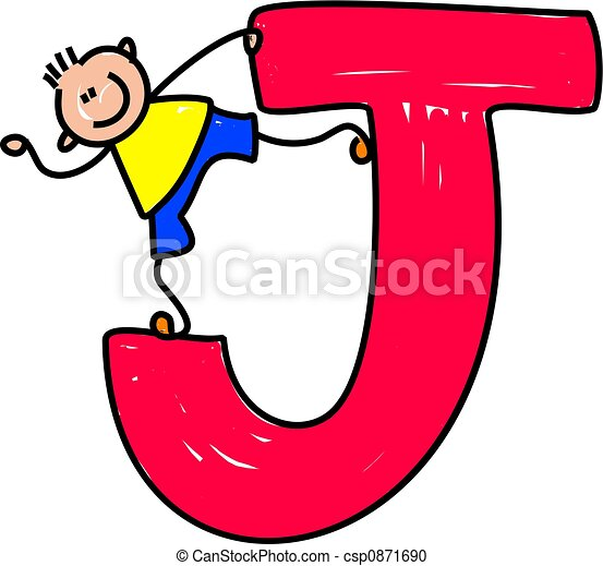 letter j boy happy little boy standing on a giant letter j stock rh canstockphoto com decorative letter j clipart decorative letter j clipart