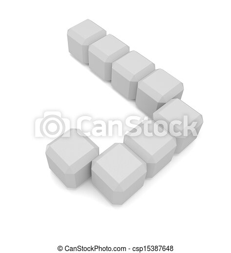 Letter J Cubic White