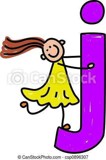 letter j girl happy little girl climbing over giant letter j rh canstockphoto com decorative letter j clipart letter j clipart images