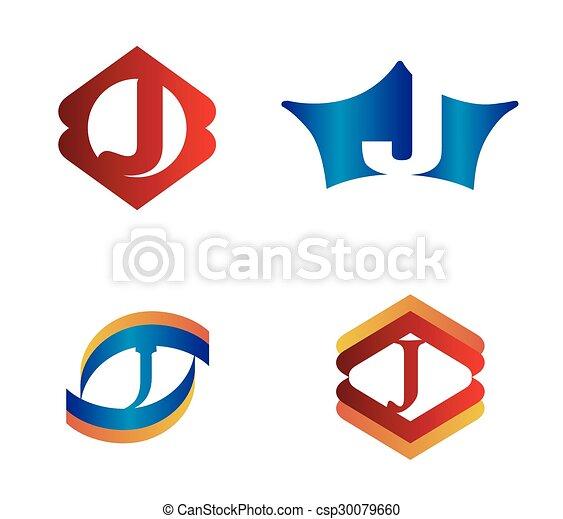 letter j set alphabetical logo design concepts clip art vector rh canstockphoto com letter g clipart