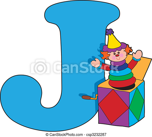 letter j with a jack in a box rh canstockphoto com letter j clipart free Preschool Letter J