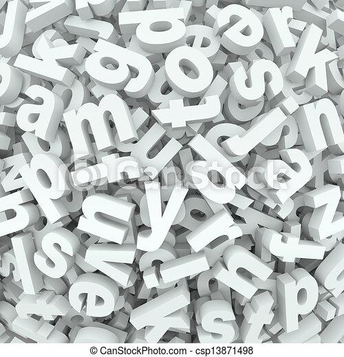 Letter Jumble Background Alphabet Words Spilled Mess - csp13871498