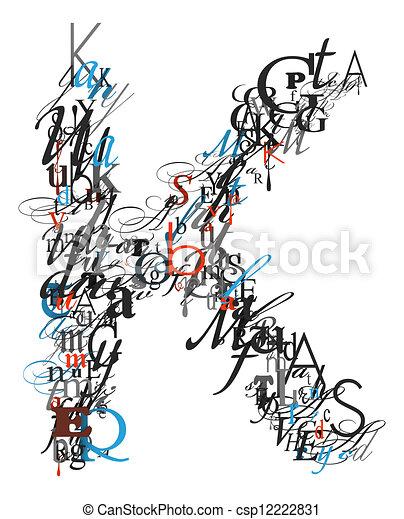 Letter K Alphabet From Letters
