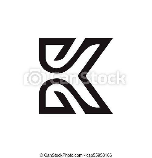 letter k logo design concept template - csp55958166