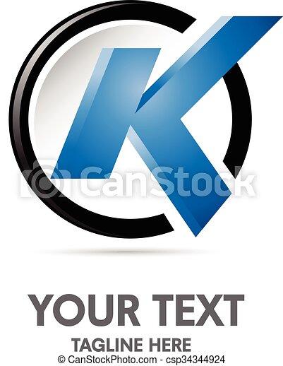 letter k logo - csp34344924