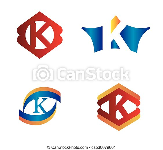 letter k set alphabetical logo design concepts clip art vector rh canstockphoto com letter k clipart black and white letter c clipart with vines