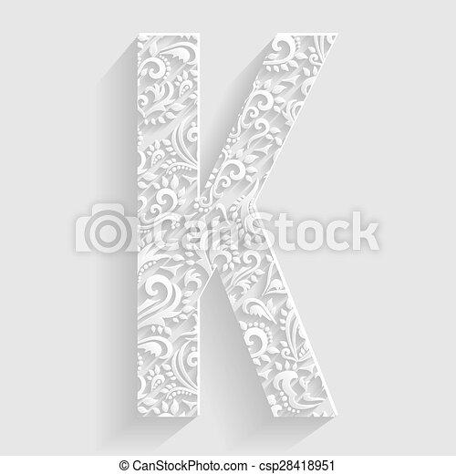 Letter k vector floral invitation cards decorative font clipart letter k vector floral invitation stopboris Images