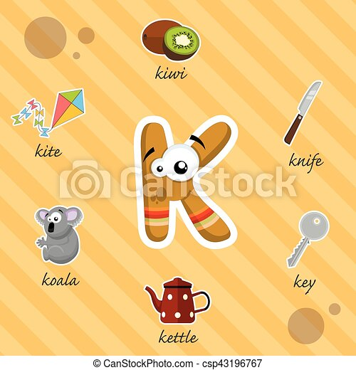 Letter k with words funny letter r with words starting on r clip letter k with words csp43196767 sciox Images