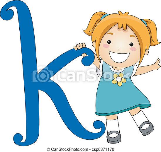 Letter Kid K - csp8371170