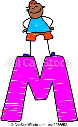letter m boy little boy standing on letter m clip art search rh canstockphoto com decorative letter m clipart letter m clipart images