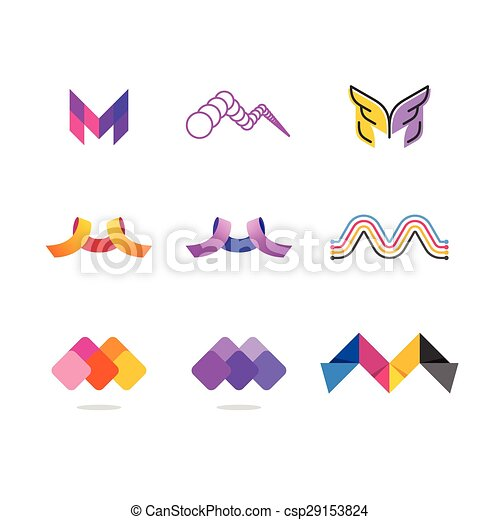 Letter M In 7 Different Graphic Styles