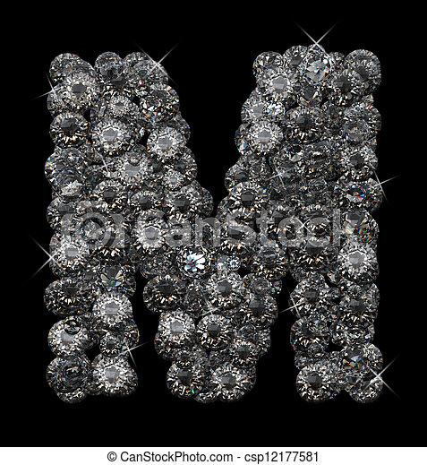 Letter M In Diamonds
